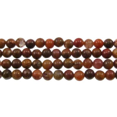4mm Round Agua Nueva Agate Stone Bead - 8-inch String   Natural Semiprecious Gemstone