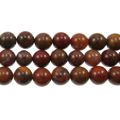 Agua Nueva 8mm round earthy golds, browns and reds | Gemstone Beads