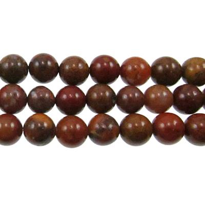 8mm Round Agua Nueva Agate Stone Bead - 8-inch String | Natural Semiprecious Gemstone
