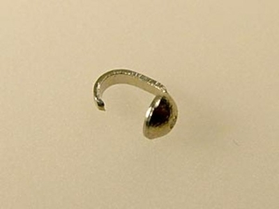 Metal Beadtip with Medium .029mm Hole - Silver Finish - 24 Pack | Base Metal Findings for Making Jewelry