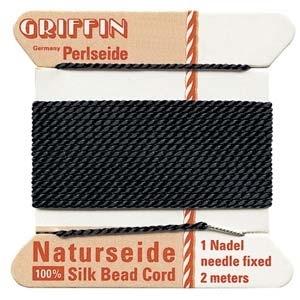 size #8 black Griffin Silk | Griffin Silk