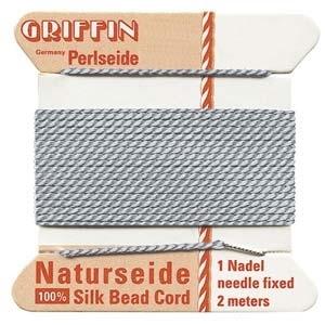 size #8 grey Griffin Silk | Griffin Silk