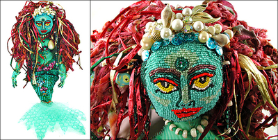 Image Beaded Mermaid Doll