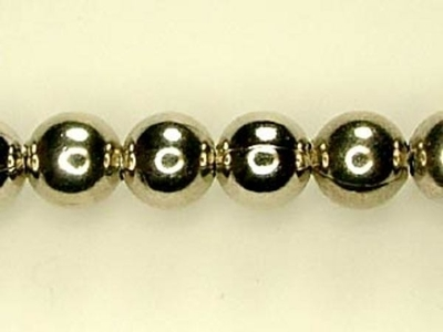 Metal 6mm Round Beads and Spacers - Nickel Finish