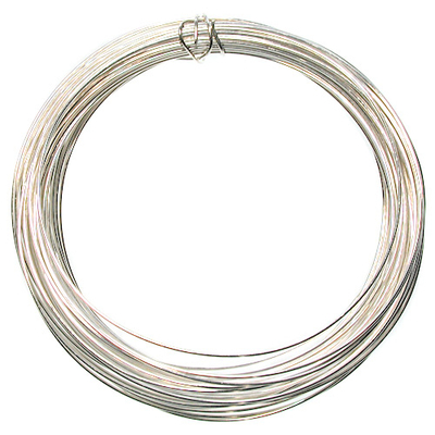 26 Gauge Round German Silver Metal Wire - Half Hard with Copper Core | Metal Wire for Wire-twisting and Wire-wrapping Jewelry and Crafts