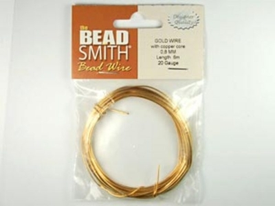 20 Gauge Round German Gold Metal Wire - Half Hard with Copper Core | Metal Wire for Wire-twisting and Wire-wrapping Jewelry and Crafts