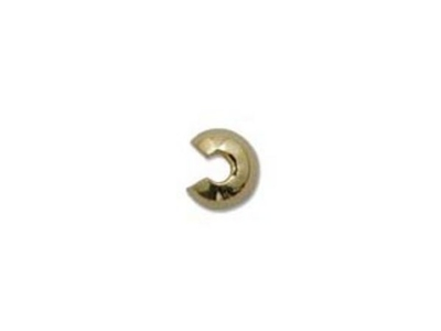 4mm Crimp Cover - Gold Finish - 30 Pack | Base Metal Findings for Making Jewelry