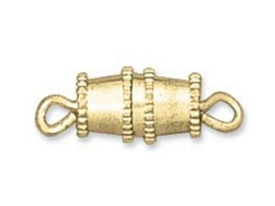 Barrel Screw Clasp - Gold Finish - 12 Pack | Base Metal Jewelry Clasps | Findings