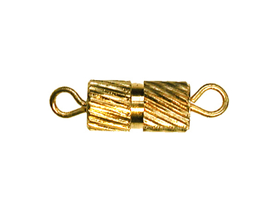 Fancy Screw Clasp - Gold Finish - 12 Pack | Base Metal Jewelry Clasps | Findings