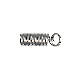 Spring Coil with Loop Cord End - Nickel Plate Finish with 3/32 Inch Opening - 144 Pack | Base Metal Findings for Making Jewelry
