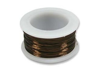 18 Gauge Round Vintage Bronze Metal Craft Wire - 7-yard Spool | Metal Wire for Wire-twisting and Wire-wrapping Jewelry and Crafts