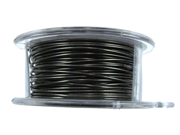 20 Gauge Round Gunmetal Hematite Metal Wire - 6 Yards | Base Metal Jewelry and Craft Wire