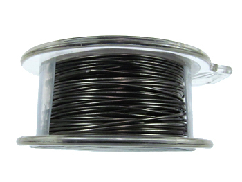 22 Gauge Round Gunmetal Hematite Metal Wire - 8 Yards | Base Metal Jewelry and Craft Wire