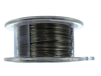24 Gauge Round Gunmetal Hematite Metal Wire - 10 Yards | Base Metal Jewelry and Craft Wire