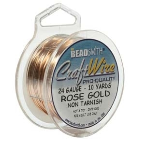 Craft Wire 24 gauge round rose gold | Craft Wire