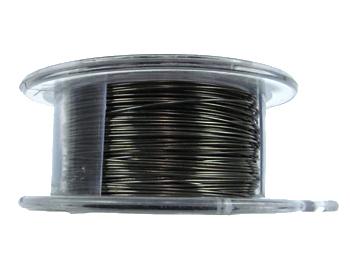 26 Gauge Round Gunmetal Hematite Metal Wire - 15 Yards | Base Metal Jewelry and Craft Wire