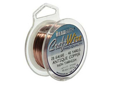 28 Gauge Round Gunmetal Hematite Metal Wire - 40 Yards | Metal Wire for Wire-twisting and Wire-wrapping Jewelry and Crafts