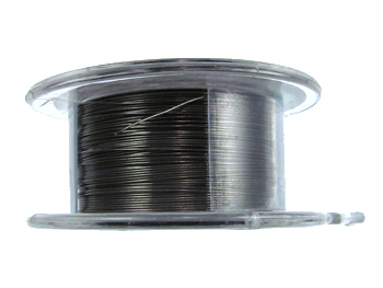 28 Gauge Round Gunmetal Hematite Metal Wire - 15 Yards | Base Metal Jewelry and Craft Wire