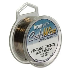 28 Gauge Round Vintage Bronze Base Metal Wire - 40-yard Spool | Metal Wire for Wire-twisting and Wire-wrapping Jewelry and Crafts
