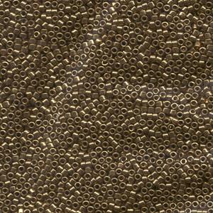 Japanese Miyuki Delica Glass Seed Bead Size 11 - Light Bronze - Metallic Finish