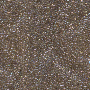 Japanese Miyuki Delica Glass Seed Bead Size 11 - Taupe AB - Transparent Iridescent Finish