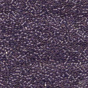 Japanese Miyuki Delica Glass Seed Bead Size 11 - Lavender Blue - Transparent Luster Finish