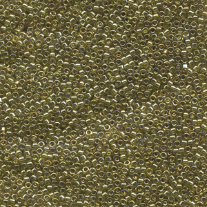 Japanese Miyuki Delica Glass Seed Bead Size 11 - Chartreuse - Transparent Luster Finish