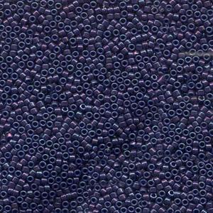 Japanese Miyuki Delica Glass Seed Bead Size 11 - Bluish Purple - Opaque Iridescent Finish