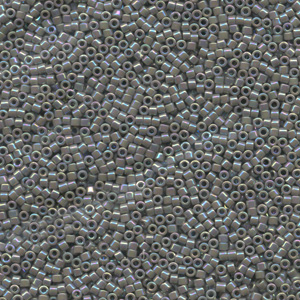 Japanese Miyuki Delica Glass Seed Bead Size 11 - Grey AB - Opaque Iridescent Finish