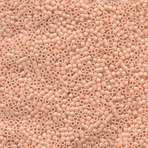 Japanese Miyuki Delica Glass Seed Bead Size 11 - Light Peachy Coral - Opaque Luster Finish