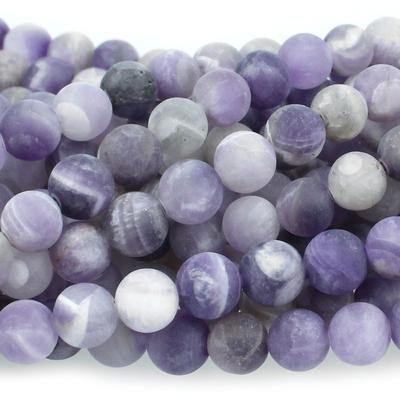 Dog Teeth Amethyst 6mm round purple | Dog Teeth Amethyst