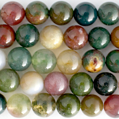10mm Round Fancy Jasper Stone Bead - Mixed Colors | Natural Semiprecious Gemstone