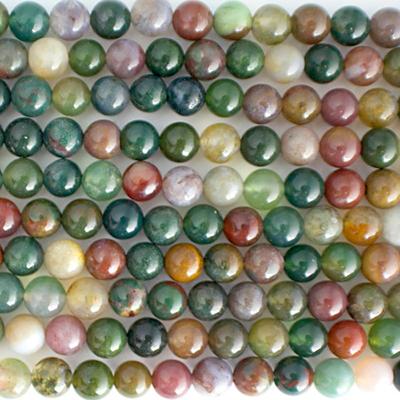 6mm Round Fancy Jasper Stone Bead - Multicolor | Natural Semiprecious Gemstone