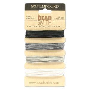 .55mm (10 lb. test) Onyx shades Hemp Twine | Hemp Twine