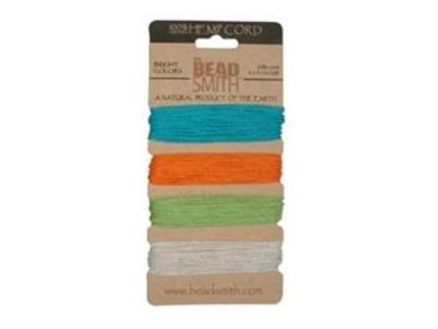 1mm (20 lb. test) 4 bright colors Hemp Twine | Hemp Twine