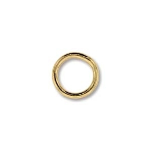 base metal 8mm soldered jumpring gold finish | Findings