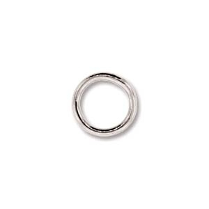 base metal 8mm soldered jumpring silver finish | jumpring