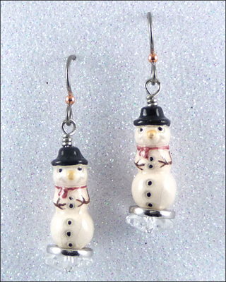 Adorable Snowman Christmas Holiday Earrings | Jewelry Project Kit Custom Kits
