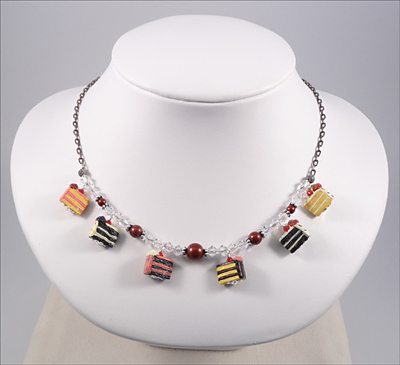 Let Them Eat Cake Necklace | Jewelry Design Ideas