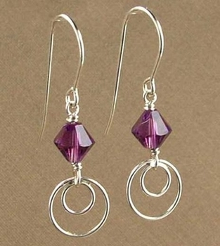 simply modern amethyst earrings jewelry design ideas - Earring Design Ideas