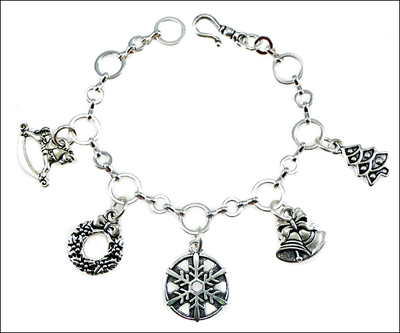 Charming Holiday Charm Bracelet with TierraCast Antique Silver | Jewelry Project Kit Custom Kits
