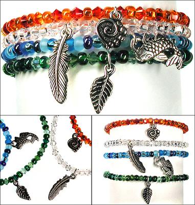 Earth Day Element Stretchy Bracelet Set | Jewelry Design Ideas