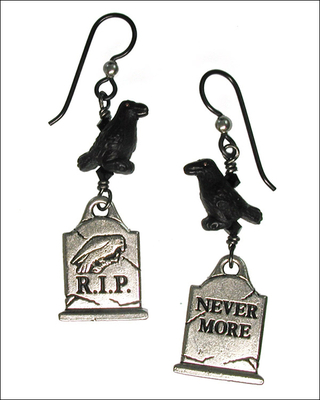 Nevermore Halloween Earrings | Jewelry Design Ideas