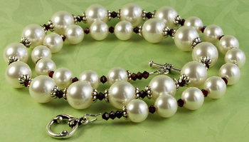 pearl and garnet necklacejewelry design ideas