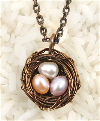 Bird\'s Nest Pendant Necklace | Jewelry Design Ideas