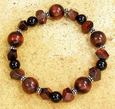 Image Chunky Red Tiger Eye Bracelet