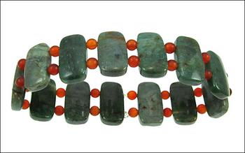 Australian Dragon's Blood Stretchy Bracelet with Carnelian Stone Beads | Jewelry Project Kit Custom Kits