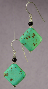 Marvelous Magnesite Earrings | Jewelry Design Ideas