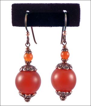 Coppery Carnelian Earrings | Custom-designed Earring Project Kit