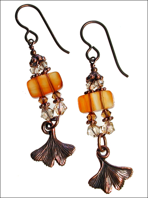 Image Ginkgo Pagoda Earrings